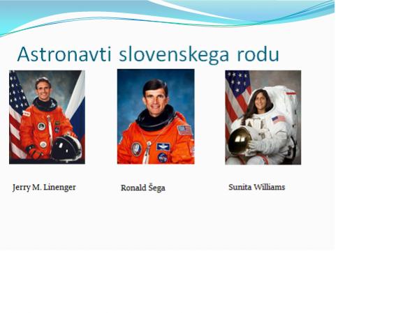 slovenski astronavti